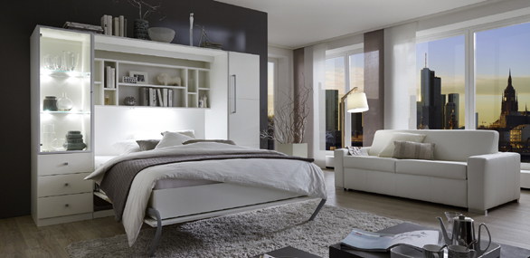 nehl wohnideen wohnidee mit einem schrankbett milano. Black Bedroom Furniture Sets. Home Design Ideas
