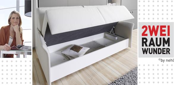 nehl wohnideen wohnidee mit bett und sofa