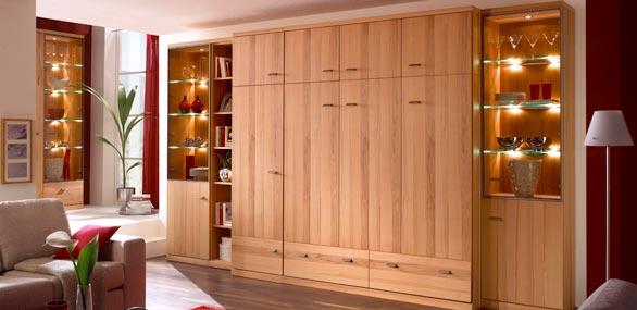 nehl wohnideen wohnidee mit einem schrankbett 2 x 80. Black Bedroom Furniture Sets. Home Design Ideas