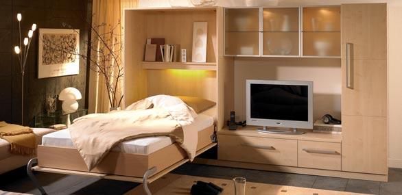 nehl wohnideen wohnidee mit einem schrankbett. Black Bedroom Furniture Sets. Home Design Ideas