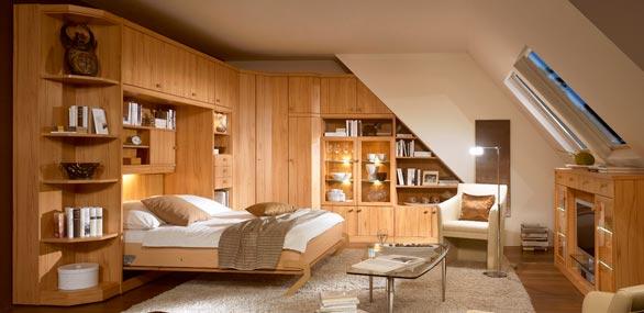 nehl wohnideen wohnidee mit einem schrankklappbett. Black Bedroom Furniture Sets. Home Design Ideas