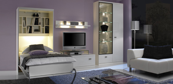 nehl wohnideen wohnidee mit einem schrankbett. Black Bedroom Furniture Sets. Home Design Ideas