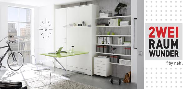 nehl wohnideen zweiraumwunder mit tisch. Black Bedroom Furniture Sets. Home Design Ideas